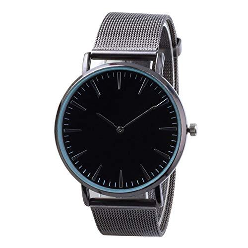 - Clock Fashion Classic Casual Black Round dial Men Quartz Watches Simple Women Mesh Belt Couple Sports Watch,Black