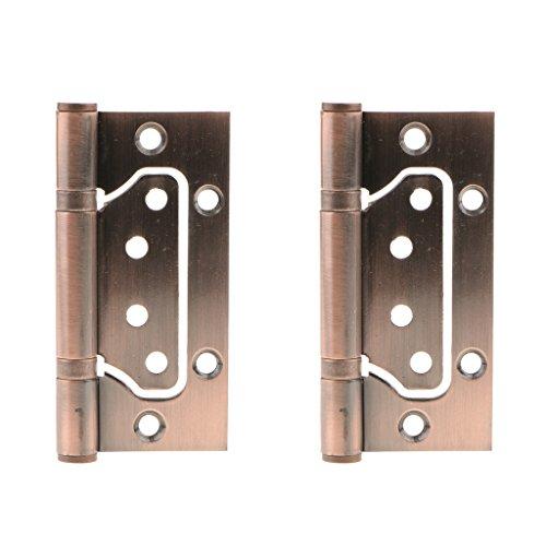Homyl 2PCS 4'' Stainless Steel Butt Door Hinge Cabinet Window Corner Bearing Hinge Door Hardware - Copper, 25mm (Stainless 4' Steel Cabinet)