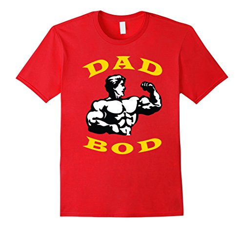Mens Fathers Day Shirt | Dad Bod T-Shirt | Funny Gym Shirts XL Red