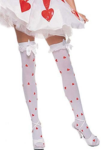 Print Satin Stockings - 7