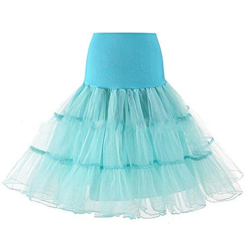 Henglizh Half Slips Women 50s Petticoat Skirts Tutu Crinoline Underskirt