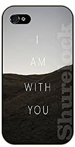 iPhone 5 / 5s Bible Verse - Mountains: I am with you - black plastic case / Verses, Inspirational and Motivational hjbrhga1544