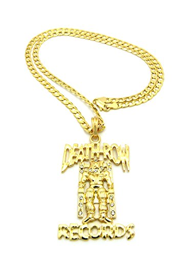 New death row records pendant 4mm24 cuban link chain hip hop save aloadofball Choice Image