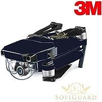 SopiGuard 3M Matte Navy Blue Precision Edge-to-Edge Coverage Vinyl Skin Controller Battery Wrap for DJI Mavic Pro