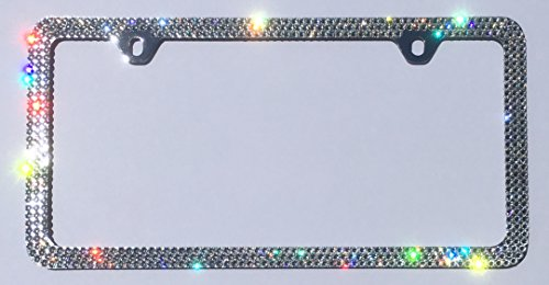 3 Row CRYSTAL License Plate Frame 2 Holes Rhinestone Bling made with Swarovski Crystals -  Cool Blingz, SW3Crys20C2H