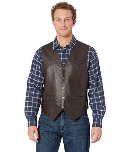 Scully Men's Leather Vest Brown Large