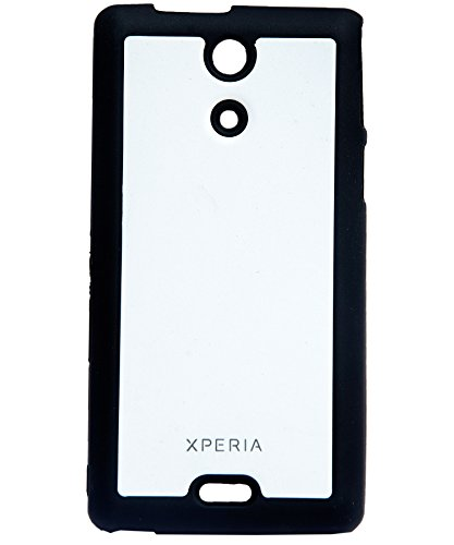 iCandy Black Boarder Leather Finish Soft Back Cover for Sony Xperia Z C6602   White