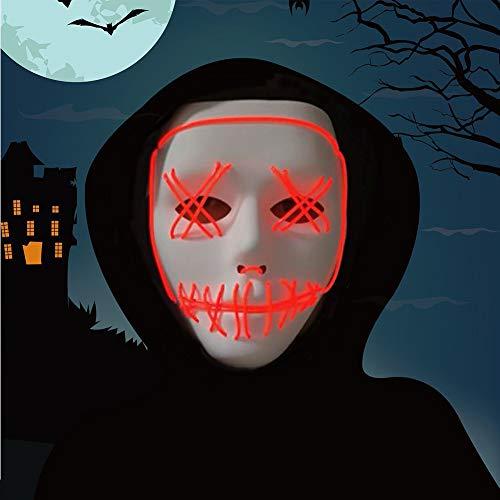 Halloween Mask,LED Masks Glow Scary Mask Light Up