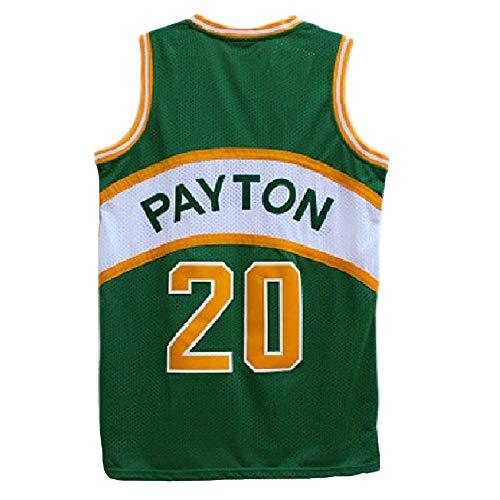 Haeyev Men's Payton Retro Jersey Athletics Gary Jersey Basketball #20 Jersey (L, Multicoloured) ()