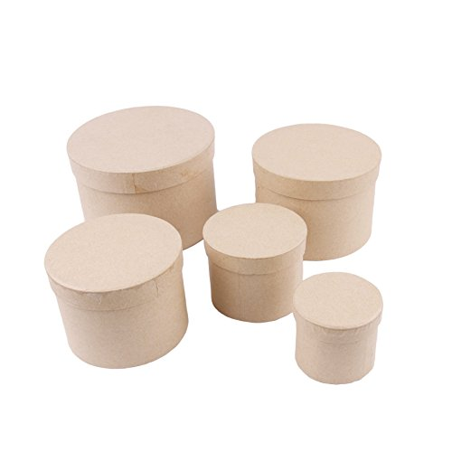 Amazon.com : MP PD203 - Set of 5 Boxes Scrapbooking Round : Office Products