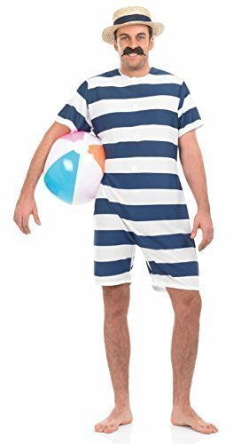 Amazon.com: Traje de baño con rayas azules para hombre de ...