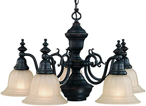 Dolan Designs 660-78 5Lt Bolivian Richland 5 Light with Downlight Chandelier,