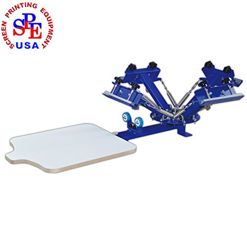 4 Color 1 Station Screen Printing Equipment Simple Table Screen Printing Printer by Screen Printing Machine Series
