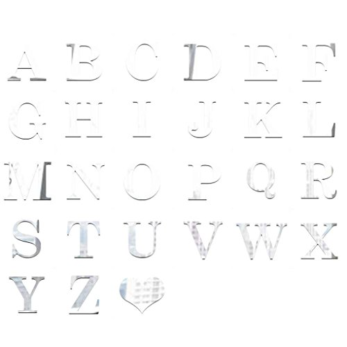 - Aulley English Letters Mirror Sticker 3D Acrylic Alphabet Mirrored Decals DIY Room Home Decoration Wallpaper