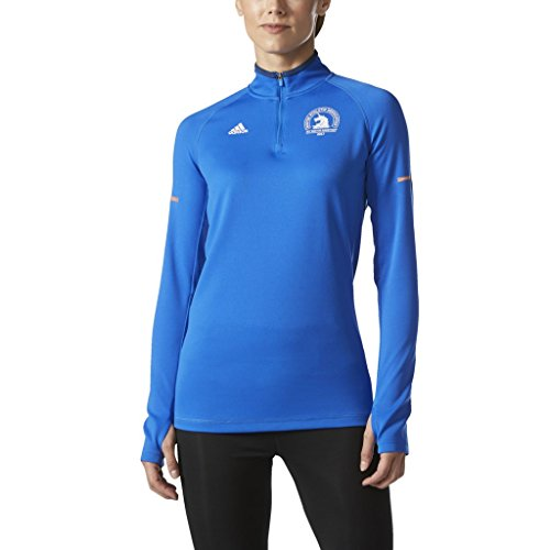 - adidas Performance Women's Climacool Cold Weather Boston Marathon 2017 Unicorn Half Zip Long Sleeve, Blue/White, Small