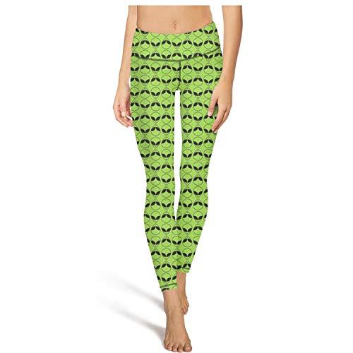UUEEHHYY The Aliens Green Color Halloween Leggings Yoga Women Pants S-XL ()