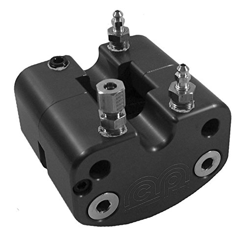 "NEW MCP SPECIAL EDITION BLACK KARTING BRAKE CALIPER & PADS WITH INTERNAL FLUID CROSSFLOW FOR .15""-.25"" ROTORS, GREAT FOR GO-KARTS, MICRO-SPRINT, MINI-CUP, LAWN MOWERS, BARSTOOLS, ETC"
