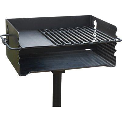 Jumbo Park Charcoal Grill, 384 Sq. in. of Cooking Space (3' Jumbo Mounts)