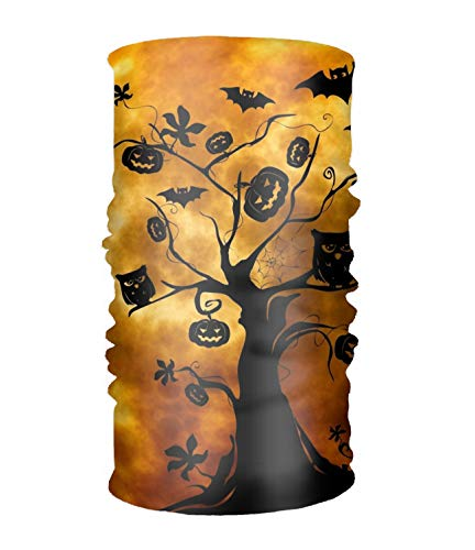 DAFAL Halloween Owls Bats Magic Scarf Outdoor Motorcycle