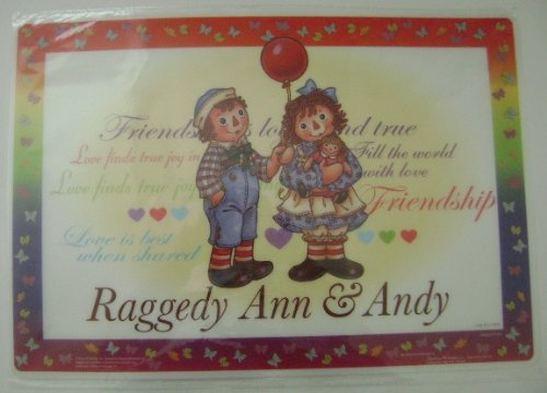 - RAGGEDY ANN & ANDY PLASTIC PLACEMAT (GIRL)