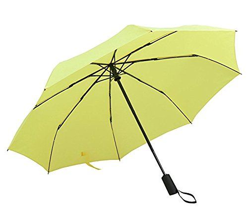 Bodyguard Yellow Umbrellas with Fibreglass Ribs and Water-proof Fabric,Auto Open - Fibreglass Body