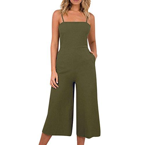 Women Elegant Jumpsuits,Women Holiday Sleeveless Backless High Waisted Wide Leg Summer Beach ()