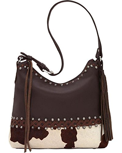 Brindle Purse Chocolate Shoulder Leather American Hair Bag West qUHZA