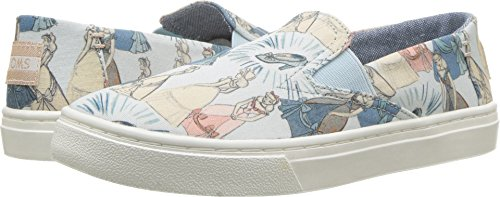 TOMS Disney Luca Blue Cinderella Printed Canvas 10012730 Youth Size 2