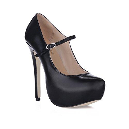 3cm stiletto aiguille sexy Rond Femmes Haut b escarpins plusieurs Coloris Chmile Chau talon Noir bout fête Fermé plateforme semelle Compensée nXqxAwaP6a