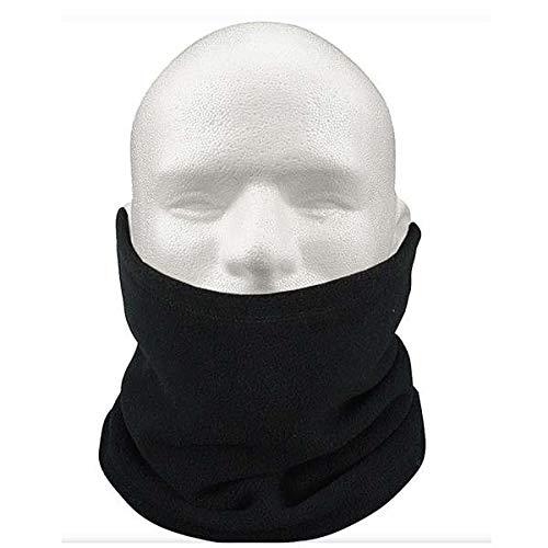 Hot New Unisex 3-in-1 Multipurpose Polar Fleece Snood Hat Women Men Neck Warmer Wear Scarf Beanie 3 Colors - Black
