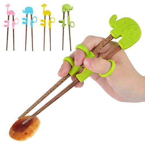 (minjiSF Kids Training Helper Portable Cartoon Learning Training Chopsticks Children Tab)