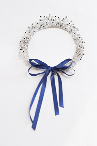 Diamond Blue Bridal Tiara by MadeByChic