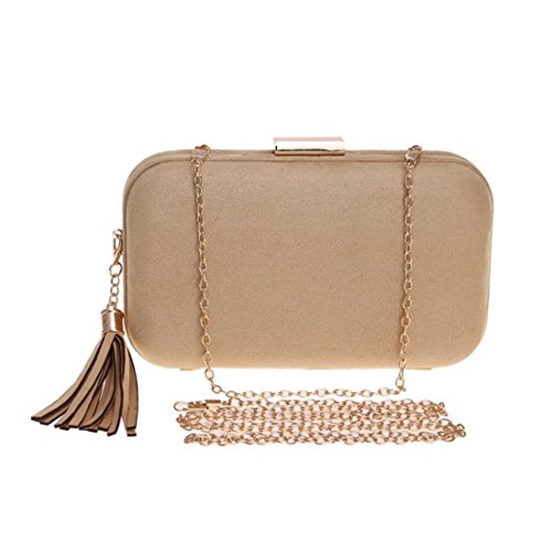 Handbag Evening Tassel Khaki Evening For Shoulder KERVINFENDRIYUN Dress Bag Purse Color Bag Clutch Khaki Women Leather 8w5qHppxt