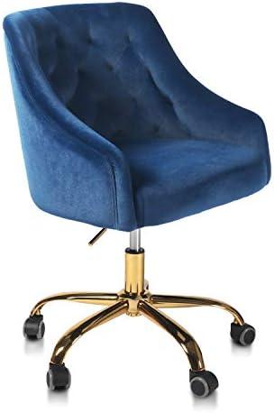 QLMUSE Home Office Desk Chair Velvet Swivel Adjustable Chair