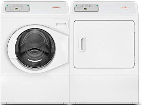 Speed Queen Front Load LFNE5BSP115TW01 27″ Washer with LDEE5BGS173TW01 27″ Electric Dryer Commercial Laundry Pair in White