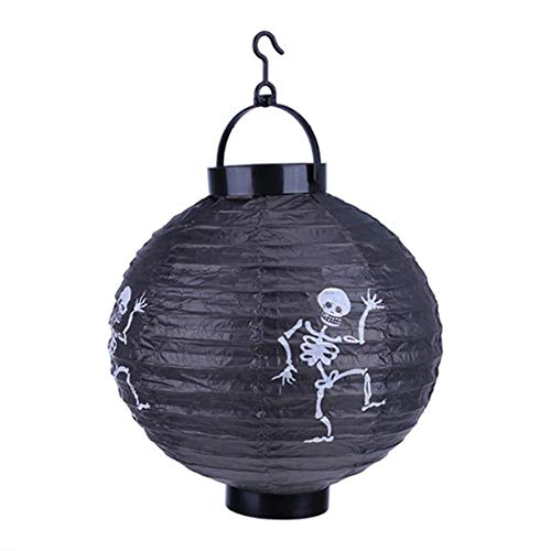 DOSOMI Halloween Decoration LED Paper Pumpkin Hanging Lantern Light Lamp for Home Horror Supplies ()