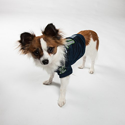Image of Pets First No.12 NFL Pet Team Mesh 'Vee' Neck Jersey with Team Logo, X-Small