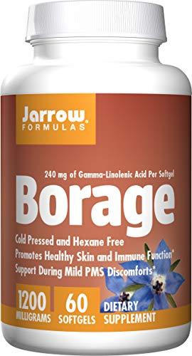 Jarrow Formulas Borage GLA, Supports Beauty and Womens Health, 1000 mg, 60 Softgels