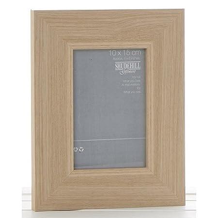 1db2194f8af Shudehill Giftware Broad Width Framed Wood Oak Effect Photo Picture Frame  (6 x 8 INCH)  Amazon.co.uk  Kitchen   Home