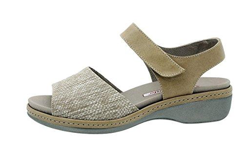 PieSanto Sandales à Semelle Amovible 180807 Chaussure Femme Confort Viper Beig s7g3oQX5