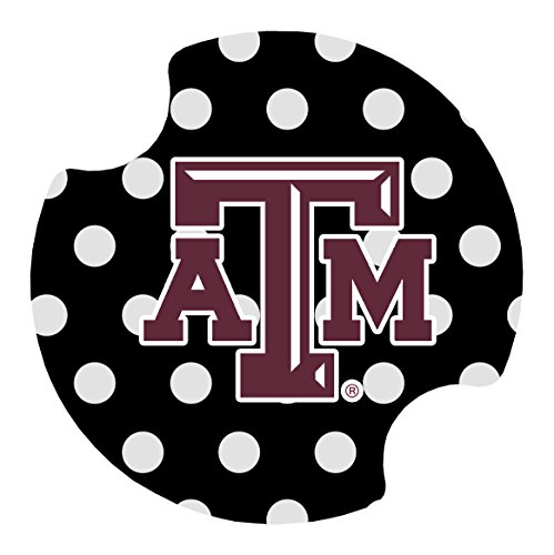 (Thirstystone Texas A&M Dots Car Cup Holder Coaster, 2-Pack)