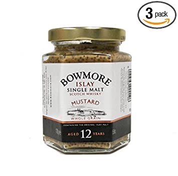 Mackays Bowmore Single Malt Scotch Whisky Mustard, 6-Ounce (Pack of 3)