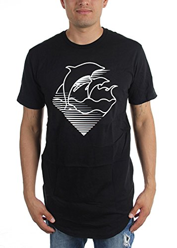 Pink Dolphin - Mens Speed Waves Scallop T-Shirt, Size: XX-Large, (Pink Scallop)