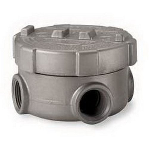 Appleton GRU100-A Conduit Outlet Box, Hazardous Location, Internal Ground Screw and O-Ring, Style XAT, Aluminum, 4 Side Mounted and 1 Bottom Mounted, 1'' Hub by Appleton