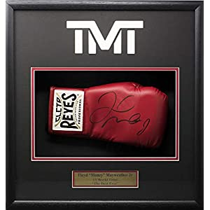 Floyd Mayweather Jr Signed Cleto Reyes Red Boxing Glove Shadowbox Beckett BAS
