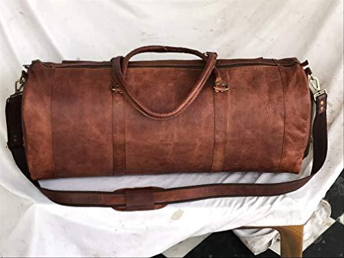 Leather Gym Travel 28 Inch Shoe Duffel Men Carry Luggage Overnight Handbag Women Shoulder Weekend Sport Large Tote Vintage Bag