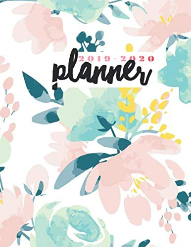 - 2019-2020 Planner: Floral Watercolor Weekly & Monthly Schedule Diary Organizer Calendar August 2019 To July 2020 Timetable | 8.5