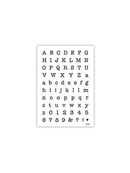 impressitTM plantillas de letras y números: tamaño pequeño de máquina de escribir antigua plantilla para grabar boquillas para manga pastelera, ...