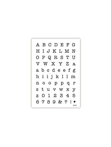 impressitTM plantillas de letras y números: tamaño pequeño de máquina de escribir antigua plantilla para