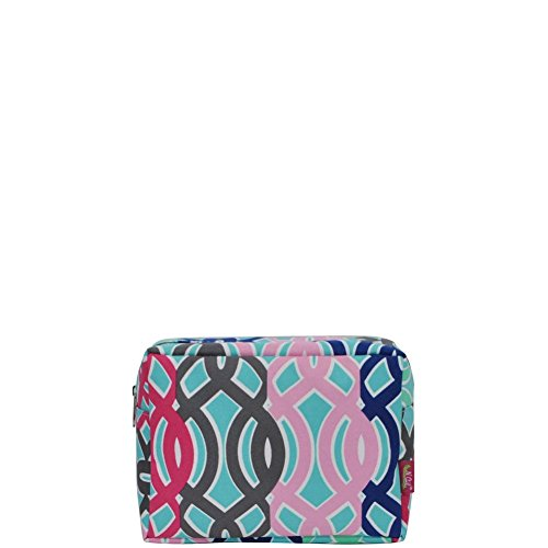 N. Gil Large Travel Cosmetic Pouch Bag 2 (Multi Vine)